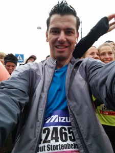 Pre-halve marathon selfie